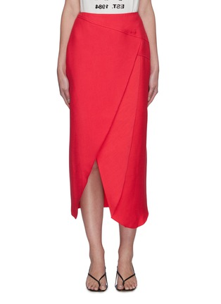 Main View - Click To Enlarge - C/MEO COLLECTIVE - Over Again' asymmetric midi skirt
