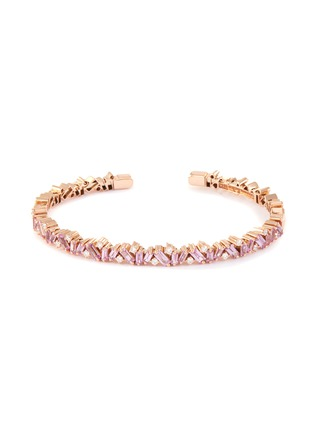 Main View - Click To Enlarge - SUZANNE KALAN - 'Fireworks Frenzy' diamond sapphire 18k rose gold bangle