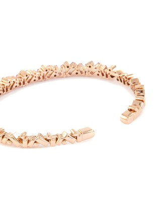 Figure View - Click To Enlarge - SUZANNE KALAN - 'Fireworks Frenzy' diamond sapphire 18k rose gold bangle