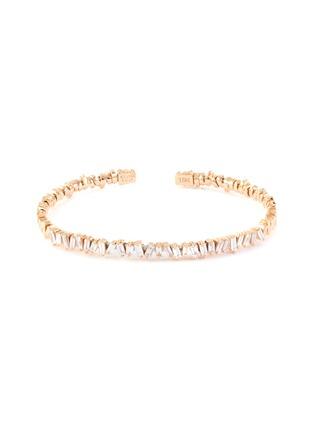 Main View - Click To Enlarge - SUZANNE KALAN - 'Fireworks' diamond 18k rose gold bangle