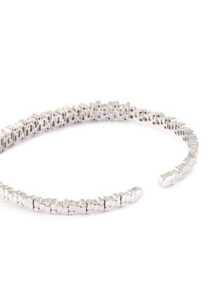 Detail View - Click To Enlarge - SUZANNE KALAN - 'Fireworks' diamond 18k white gold bangle