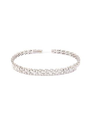 Main View - Click To Enlarge - SUZANNE KALAN - 'Fireworks' diamond 18k white gold bangle