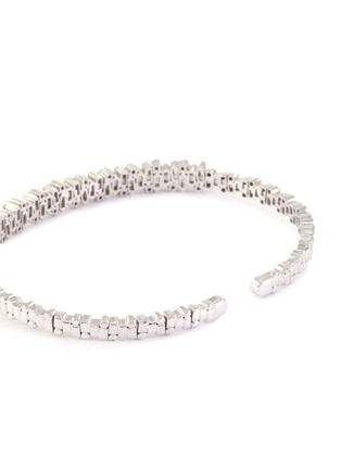 Figure View - Click To Enlarge - SUZANNE KALAN - 'Fireworks' diamond 18k white gold bangle