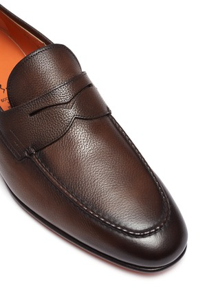 Detail View - Click To Enlarge - SANTONI - 'Carlos' flexi leather penny loafers