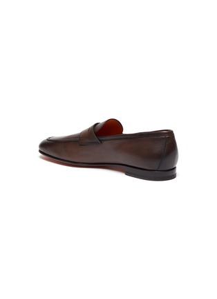 - SANTONI - 'Carlos' flexi leather penny loafers