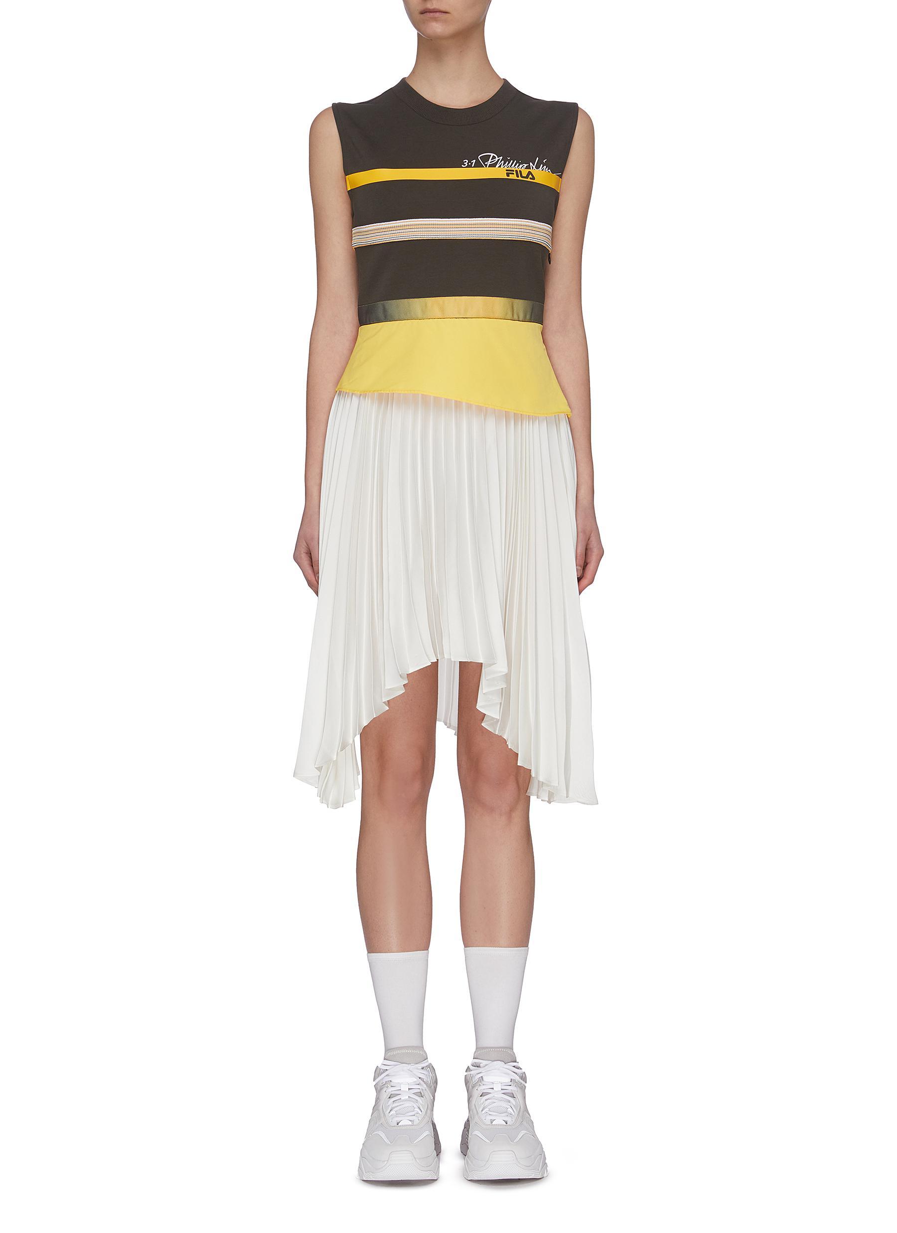 shop Fila X 3.1 Phillip Lim Sleeveless asymmetric pleated dress online