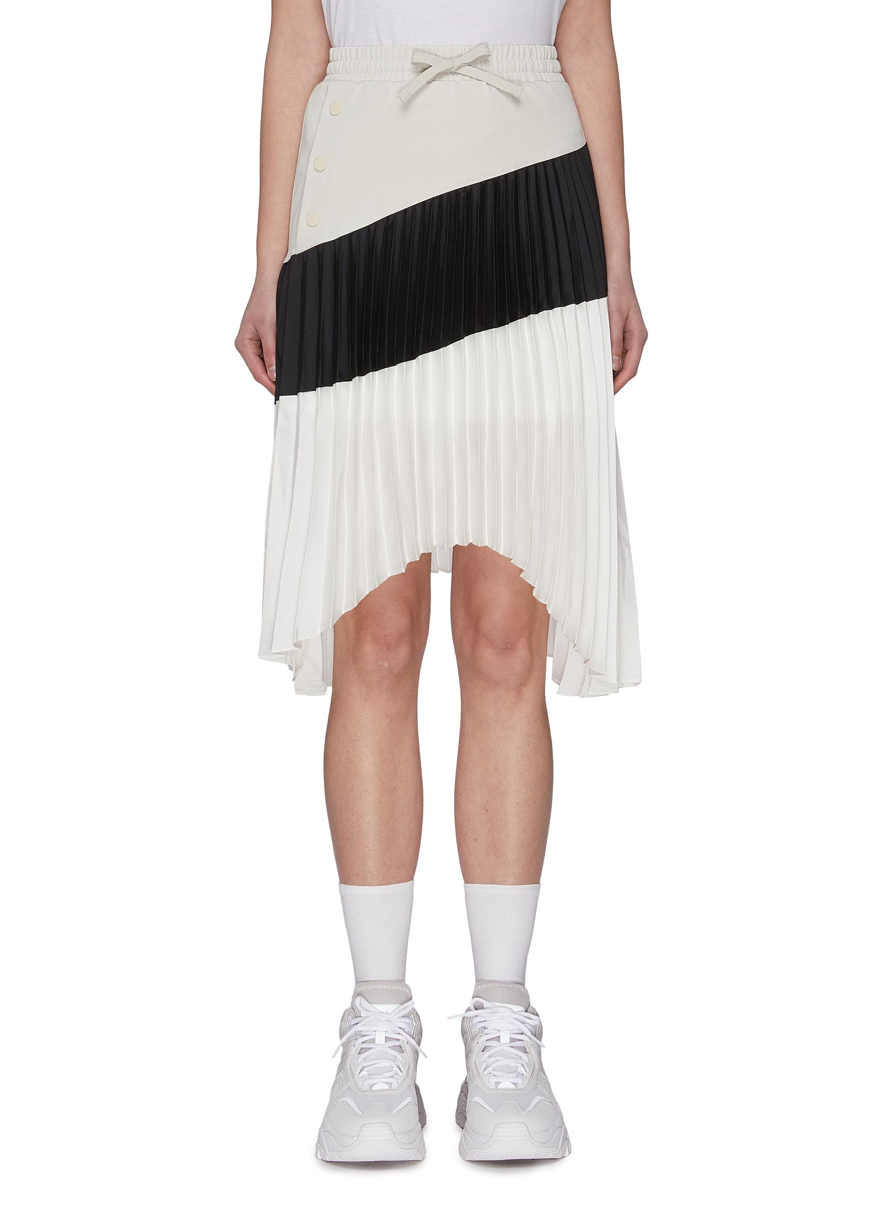 Buy Fila X 3.1 Phillip Lim Skirts Asymmetric colourblock pleated skirt