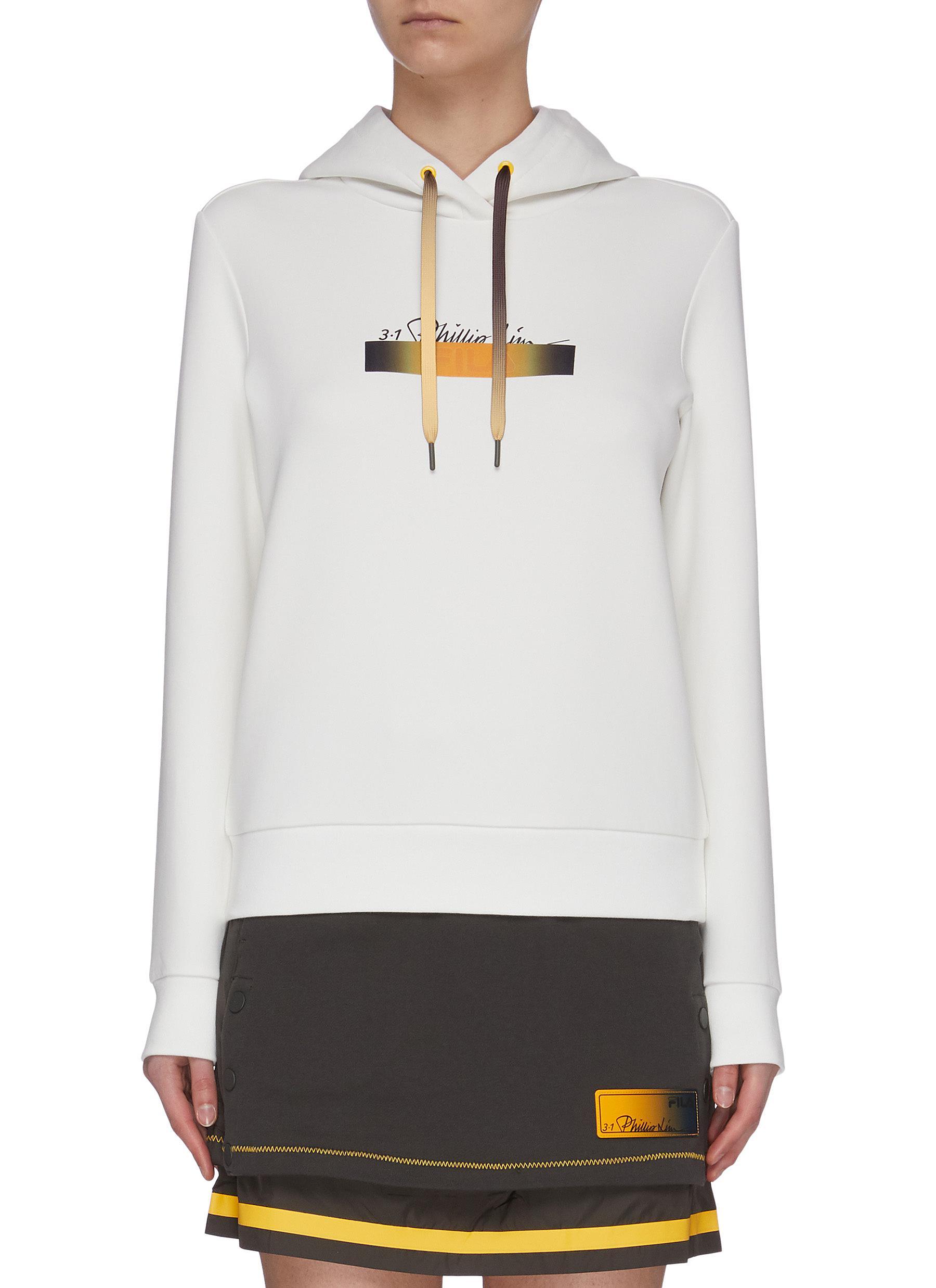 shop Fila X 3.1 Phillip Lim Logo ombre drawstring hoodie online