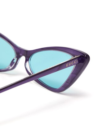 Detail View - Click To Enlarge - GUCCI - Acetate frame cateye sunglasses