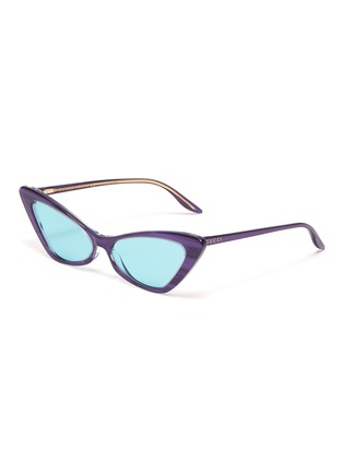 Main View - Click To Enlarge - GUCCI - Acetate frame cateye sunglasses