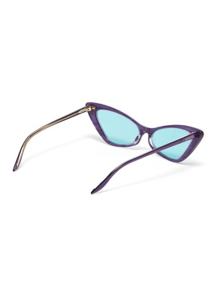 Figure View - Click To Enlarge - GUCCI - Acetate frame cateye sunglasses