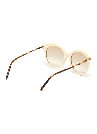 Figure View - Click To Enlarge - GUCCI - Horn rim acetate frame round sunglasses