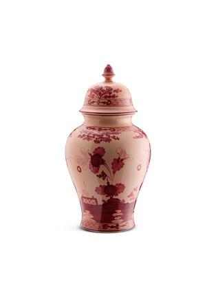 Main View - Click To Enlarge - GINORI - Oriente Italiano Porcelain Poitche Vase With Cover – 31cm – Vermiglio