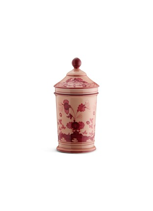 Main View - Click To Enlarge - GINORI 1735 - Oriente Italiano Porcelain Pharmacy Vase With Cover – 20cm – Vermiglio