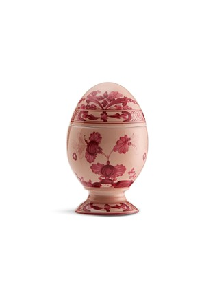 Main View - Click To Enlarge - GINORI 1735 - Oriente Italiano Porcelain Egg – 13.5cm – Vermiglio