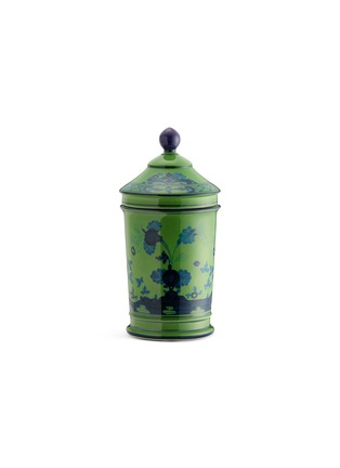 Main View - Click To Enlarge - RICHARD GINORI - Oriente Italiano Porcelain Pharmacy Vase With Cover – 20cm – Malachite