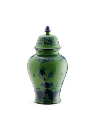 Main View - Click To Enlarge - RICHARD GINORI - Oriente Italiano Porcelain Poitche Vase With Cover – 31cm – Malachite