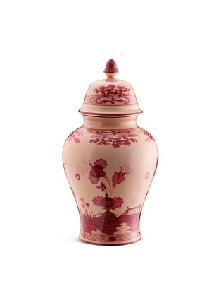 Main View - Click To Enlarge - RICHARD GINORI - Oriente Italiano Porcelain Poitche Vase With Cover – 38cm – Vermiglio
