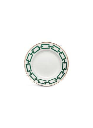 Main View - Click To Enlarge - GINORI 1735 - Catene Porcelain Flat Bread Plate – 16cm – Smeraldo