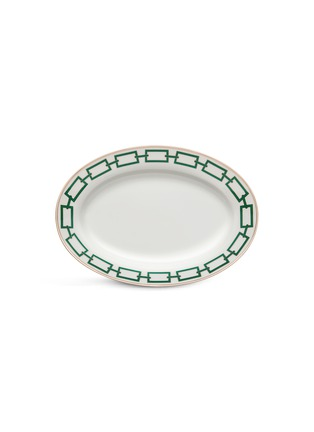 Main View - Click To Enlarge - GINORI 1735 - Catene Oval Porcelain Platter – 34cm – Smeraldo