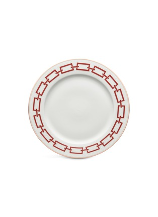 Main View - Click To Enlarge - GINORI 1735 - Catene Porcelain Charger Plate – 21cm – Scarlatto
