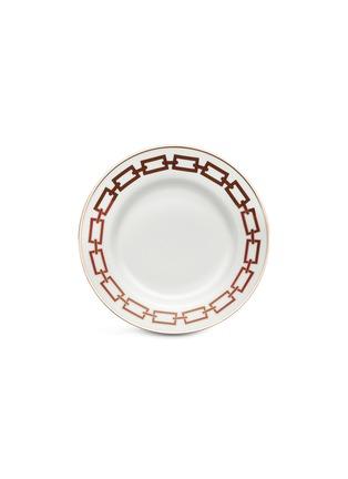 Main View - Click To Enlarge - GINORI 1735 - Catene Porcelain Flat Plate – 28cm – Scarlatto