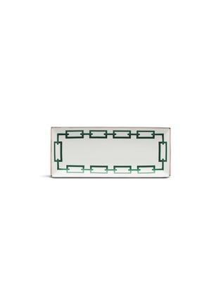 Main View - Click To Enlarge - RICHARD GINORI - Catene Rectangular Porcelain Flat Platter – Smeraldo