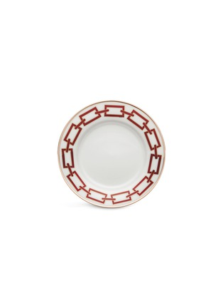 Main View - Click To Enlarge - GINORI 1735 - Catene Porcelain Flat Bread Plate – 16cm – Scarlatto