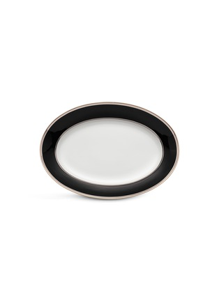 Main View - Click To Enlarge - GINORI 1735 - Contessa Flat Oval Porcelain Platter  – 34cm – Onice