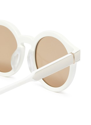 Detail View - Click To Enlarge - LOEWE - Bold round frame acetate sunglasses