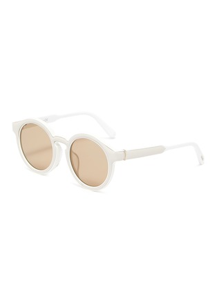 Main View - Click To Enlarge - LOEWE - Bold round frame acetate sunglasses
