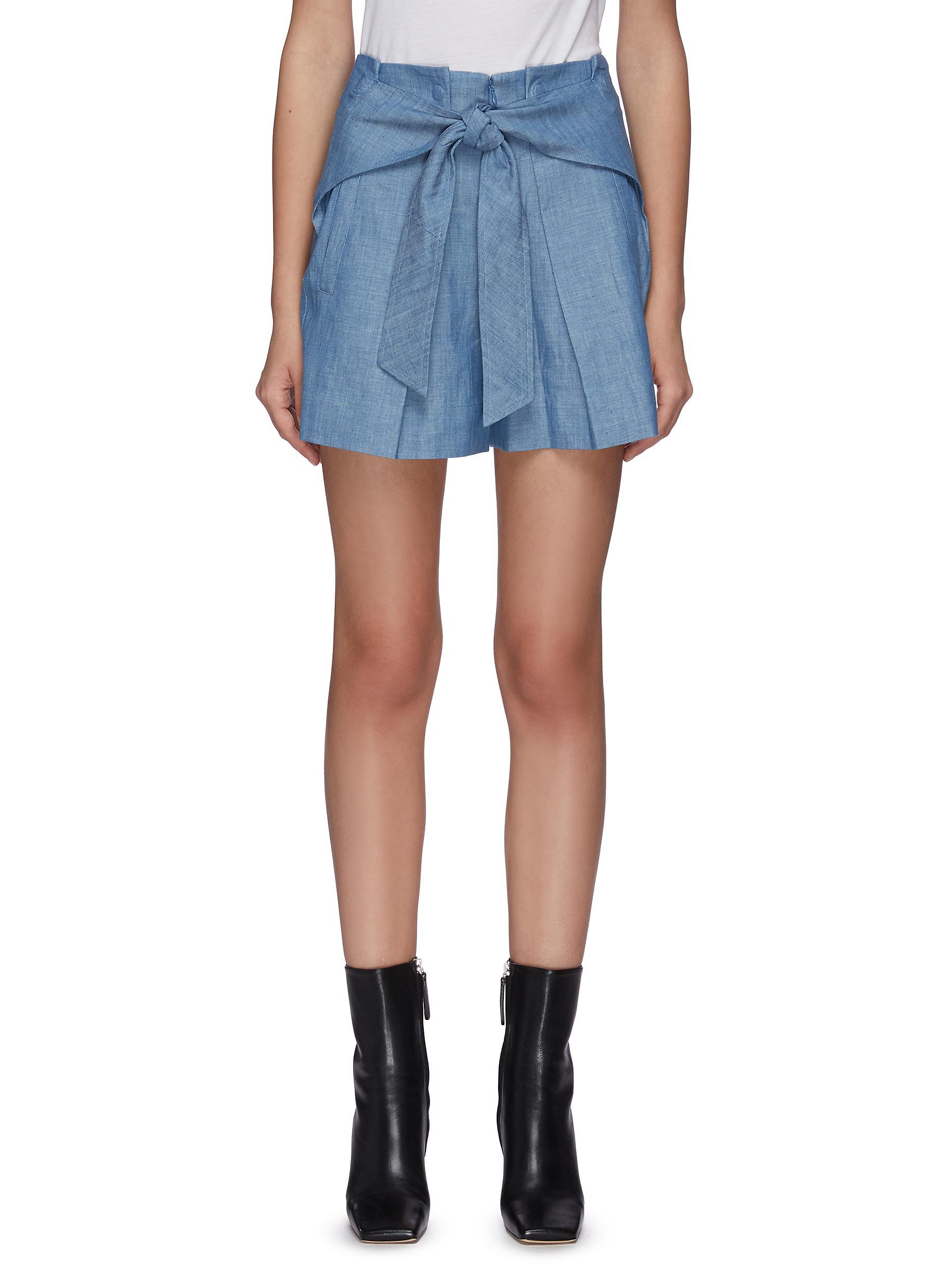 Belted patch pocket chambray shorts - 3.1 PHILLIP LIM - Modalova