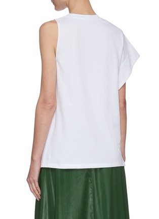 Back View - Click To Enlarge - 3.1 PHILLIP LIM - Asymmetric sleeve jersey T-shirt