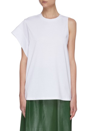 Main View - Click To Enlarge - 3.1 PHILLIP LIM - Asymmetric sleeve jersey T-shirt