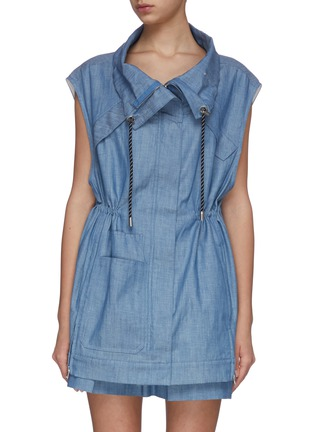 Main View - Click To Enlarge - 3.1 PHILLIP LIM - Chambray utility drawstring sports vest