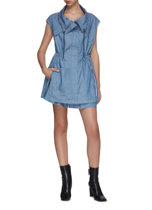 Figure View - Click To Enlarge - 3.1 PHILLIP LIM - Chambray utility drawstring sports vest