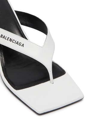 Detail View - Click To Enlarge - BALENCIAGA - Square toe leather sandals