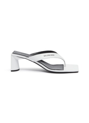 Main View - Click To Enlarge - BALENCIAGA - Square toe leather sandals