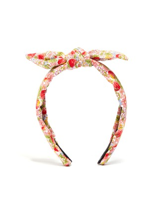 Main View - Click To Enlarge - LELE SADOUGHI - Petite strawberry print knotted kids headband