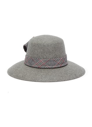 Main View - Click To Enlarge - EUGENIA KIM - 'Stevie' check plaid band wide brim fedora hat
