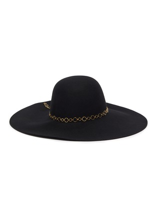 Figure View - Click To Enlarge - EUGENIA KIM - 'Bunny' chain embellished wide brim fedora hat