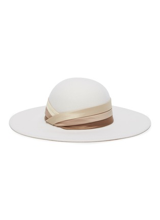 Main View - Click To Enlarge - EUGENIA KIM - 'Honey' satin band wide brim hat