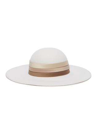 Figure View - Click To Enlarge - EUGENIA KIM - 'Honey' satin band wide brim hat