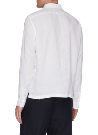 Back View - Click To Enlarge - VINCE - Long Sleeve Polo Shirt