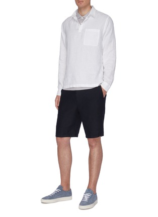 Figure View - Click To Enlarge - VINCE - Long Sleeve Polo Shirt