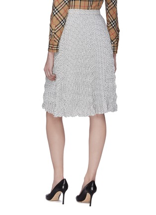 Back View - Click To Enlarge - BURBERRY - Monogram Print Pleat Skirt