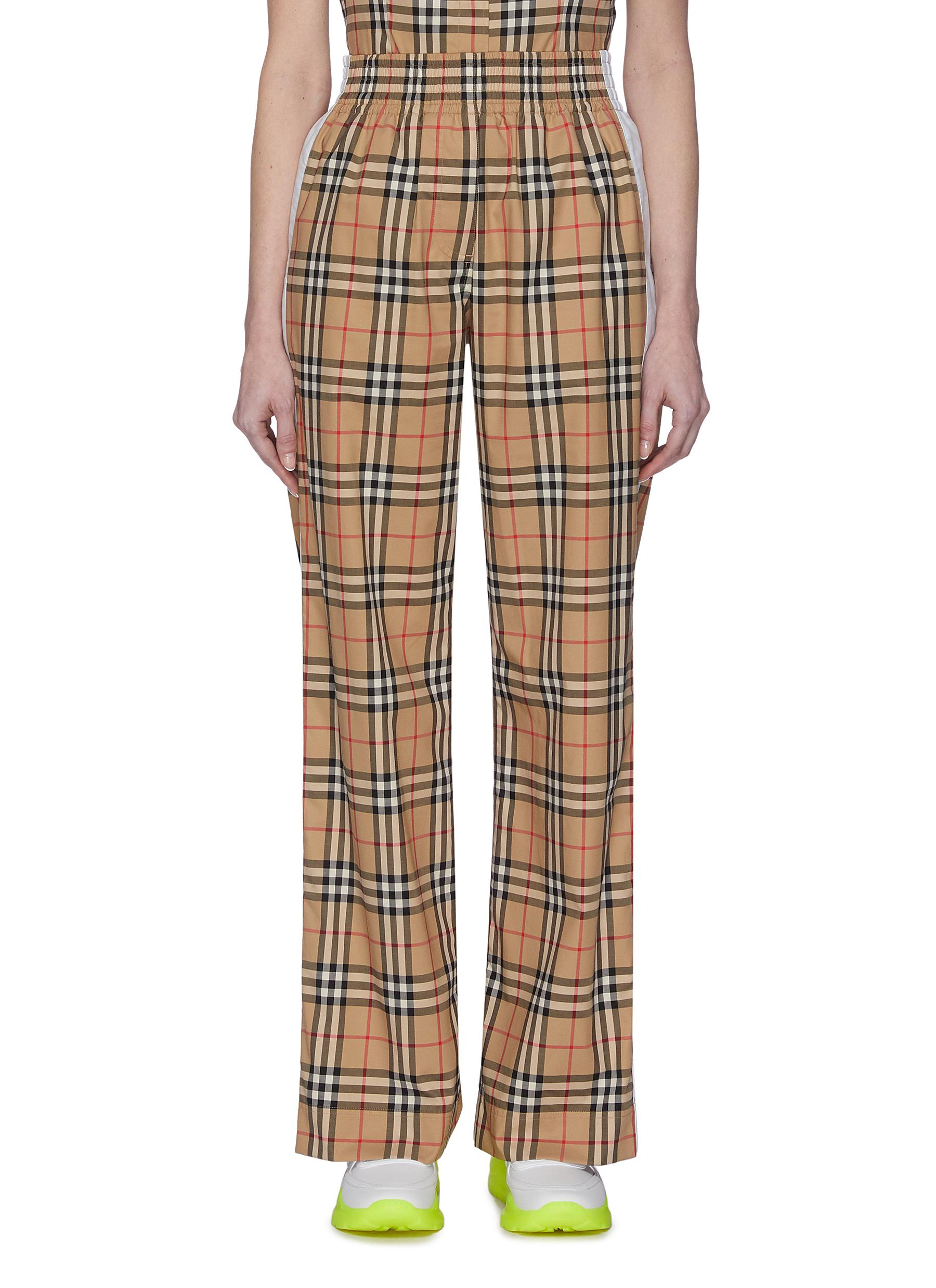 shop Burberry Side Stripe Vintage Check Pants online