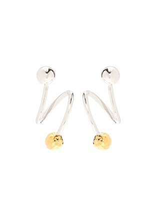 Main View - Click To Enlarge - INSANE - Wavy loop 18k gold plated silver earrings