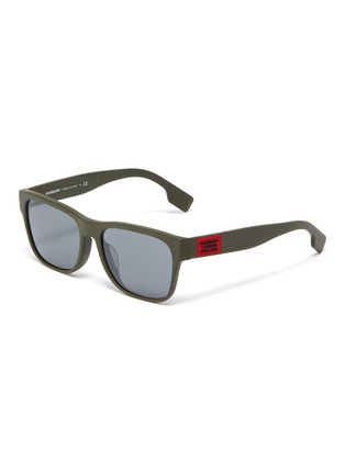Main View - Click To Enlarge - BURBERRY - Matte acetate frame square sunglasses