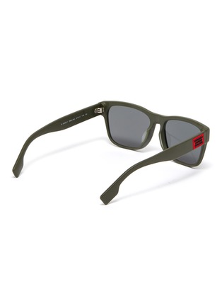 Figure View - Click To Enlarge - BURBERRY - Matte acetate frame square sunglasses